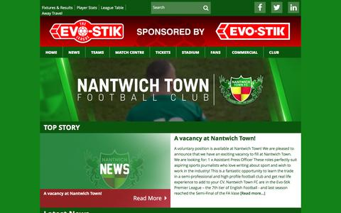 Screenshot of Press Page nantwichtownfc.co.uk - Nantwich Town FC  Latest News - Nantwich Town FC - captured Nov. 28, 2016