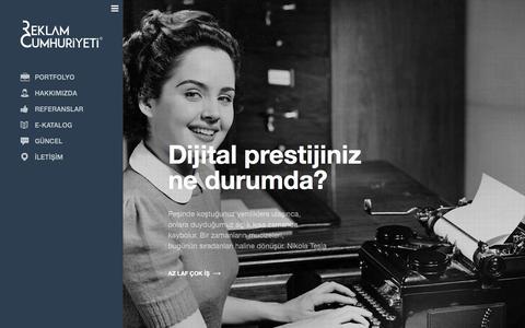 Screenshot of Home Page reklamcumhuriyeti.com - ANA SAYFA | Reklam Cumhuriyeti - captured Jan. 11, 2016