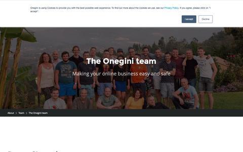 Screenshot of Team Page onegini.com - Team » Onegini CIAM - captured Oct. 20, 2018