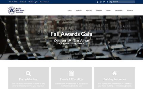 Screenshot of Home Page ashevillehba.com - Asheville Home Builders Association - captured Oct. 8, 2017