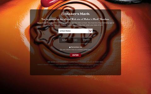 Screenshot of FAQ Page makersmark.com - FAQ | Maker's Mark® Kentucky Straight Bourbon Handmade Whisky - captured Sept. 19, 2014