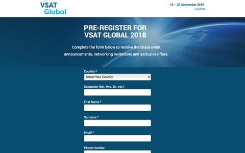 Screenshot of Landing Page knect365.com - VSAT Global - captured Sept. 19, 2018