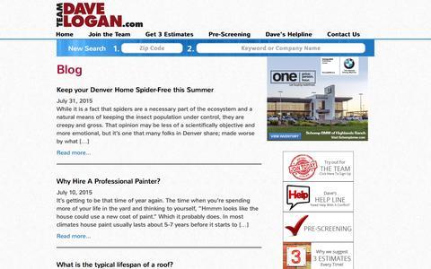 Screenshot of Blog teamdavelogan.com - Blog - Denver Businesses -TeamDaveLogan.com - captured Dec. 3, 2016