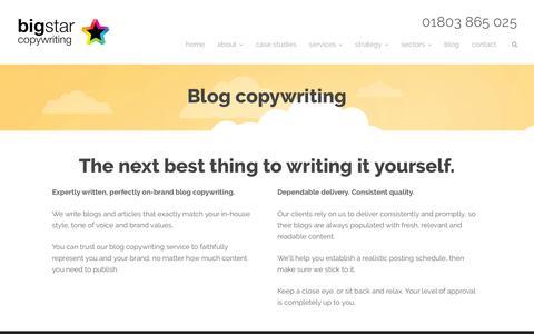 Blog copywriting - Big Star Copywriting
