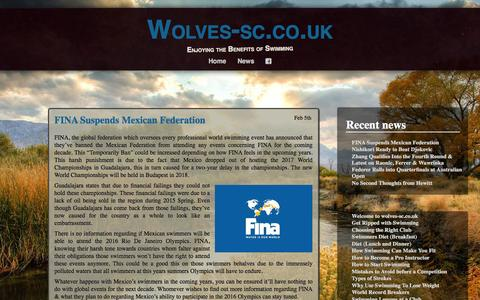 Screenshot of Press Page wolves-sc.co.uk - News | Wolves-sc.co.uk - captured Feb. 15, 2016