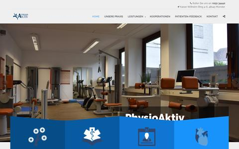 Screenshot of Home Page physio-plus.de - Physiotherapie Münster - PhysioAktiv - Jacubeck - captured April 3, 2017