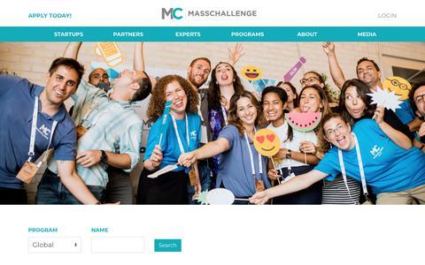 Screenshot of Team Page masschallenge.org - About: Team | MassChallenge - captured May 17, 2018