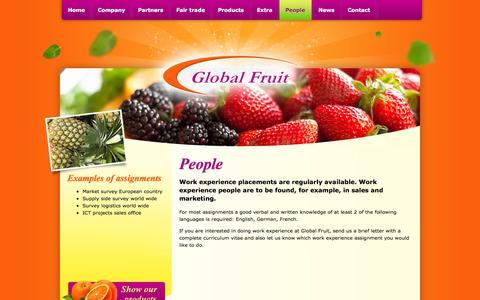 Screenshot of Team Page global-fruit.nl - People - Global Fruit B.V. - captured Sept. 30, 2014