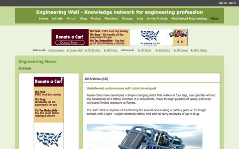 Screenshot of Press Page engineeringwall.com - All Articles - Engineering News - Engineering Wall - Knowledge network for engineering profession - captured Oct. 28, 2014