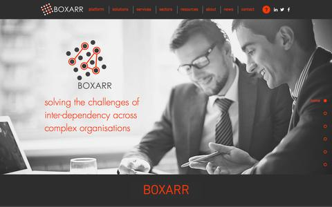 Screenshot of Home Page boxarr.com - BOXARR - Digital Thread Solutions - captured Jan. 19, 2017