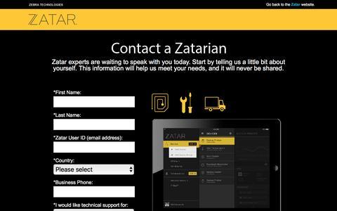 Screenshot of Landing Page zebra.com - Zatar - captured Feb. 29, 2016