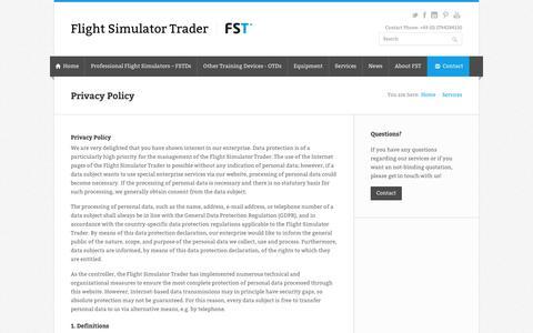 Screenshot of Privacy Page flight-simulator-trader.com - Privacy Policy » Flight Simulator Trader - captured Aug. 15, 2018