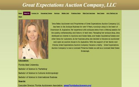 Screenshot of About Page geauction.com - About Us - Great Expectations Auction Company - captured Nov. 2, 2014