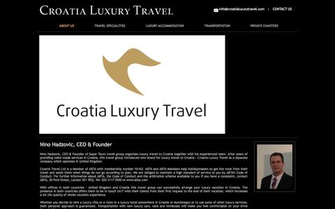 Screenshot of About Page croatialuxurytravel.com - About Croatia Luxury Travel - captured Dec. 13, 2015