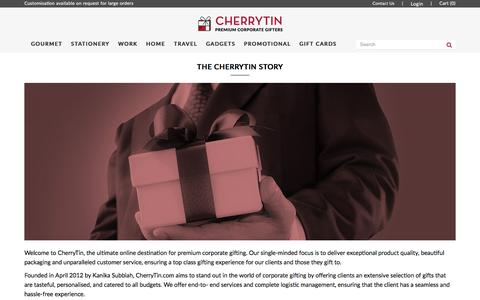Screenshot of About Page cherrytin.com - About  Us - captured May 16, 2017