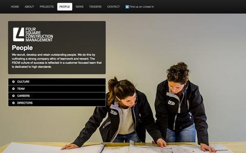 Screenshot of Team Page fscm.net.au - People | Foursquare Construction Management - captured Oct. 6, 2014