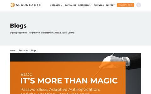 Screenshot of Blog secureauth.com - Blogs | SecureAuth - captured Aug. 21, 2019
