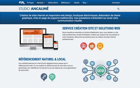 Screenshot of Services Page studio-ancalime.com - CrŽation site internet vitrine et e-commerce - captured Jan. 17, 2016
