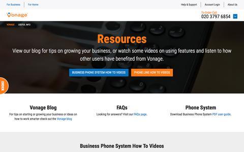 Resources - Vonage