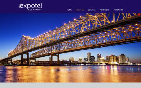 Screenshot of About Page expotelhospitality.com - Innovative Hotel Management Company - Expotel Hospitality - captured Sept. 11, 2017