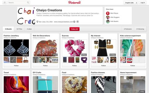 Screenshot of Pinterest Page pinterest.com - Chaiyo Creations on Pinterest - captured Oct. 22, 2014