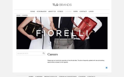 Screenshot of Jobs Page tlgbrands.com - Careers : TLG Brands - captured Aug. 16, 2016