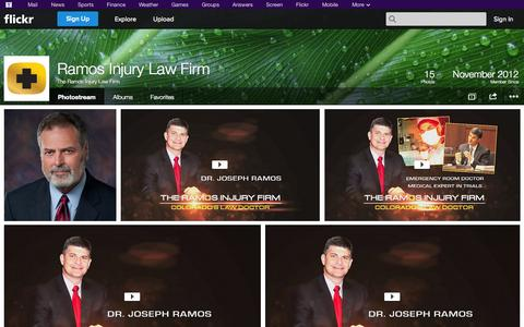 Screenshot of Flickr Page flickr.com - Flickr: The Ramos Injury Law Firm's Photostream - captured Oct. 24, 2014