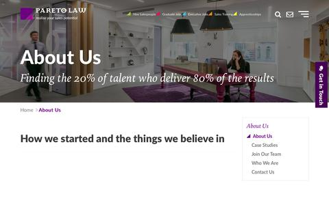 About Us | Pareto.co.uk