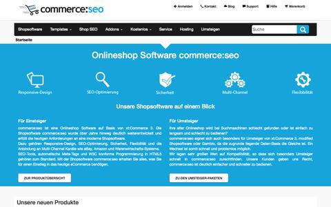 Screenshot of Home Page commerce-seo.de - Onlineshop Software commerce:SEO - Die SEO Shopsoftware mit ... - captured Sept. 19, 2014