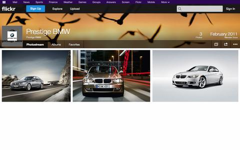 Screenshot of Flickr Page flickr.com - Flickr: Prestige BMW's Photostream - captured Oct. 22, 2014