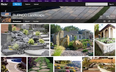 Screenshot of Flickr Page flickr.com - Flickr: BURNCOlandscape's Photostream - captured Oct. 30, 2014