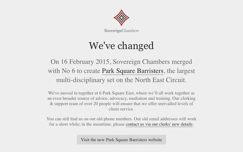 Screenshot of Home Page sovereignchambers.co.uk - Sovereign Chambers –Leeds - captured Aug. 15, 2015