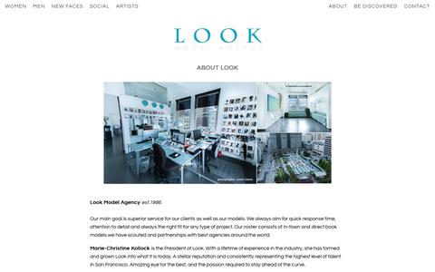 Screenshot of About Page lookmodelagency.com - About Look | LOOK Model Agency - captured July 23, 2018