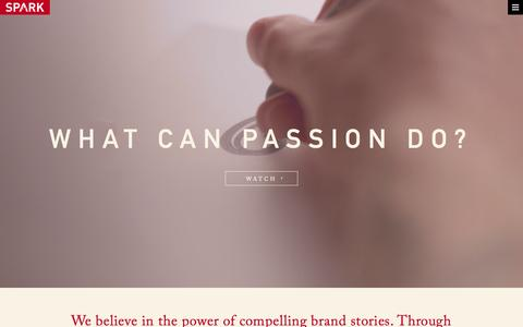 Screenshot of Home Page Contact Page spark.us - SPARK | Work With Passion | National Advertising Agency - captured Aug. 2, 2015