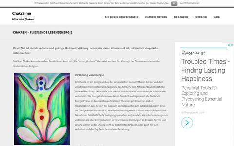 Screenshot of Home Page chakra.me - Chakra me - Öffne Deine Chakren - captured June 14, 2018