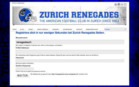 Screenshot of renegades.ch - Zurich Renegades | The American Football Club in Zurich since 1983… - captured Feb. 4, 2016