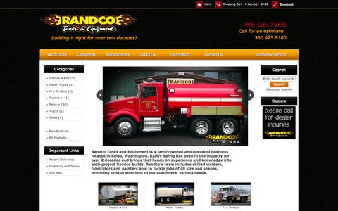 Screenshot of Home Page randcotanks.com - Randco Tanks & Equipments, Building It Right For Over a Decade! - captured Oct. 6, 2014