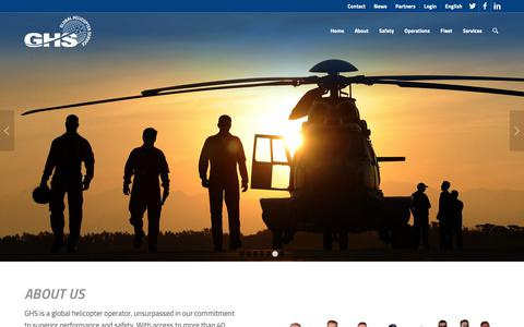 Screenshot of Home Page global-helicopter-service.com - Home - Global Helicopter Service – worldwide operator - captured Sept. 28, 2018