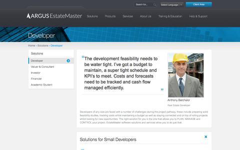 Screenshot of Developers Page estatemaster.com - EstateMaster | Property Software Solutions For Developers - captured Sept. 23, 2018