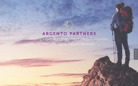Screenshot of Home Page argentopartners.com - Home - Argento Partners - captured May 30, 2017