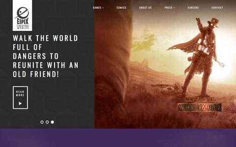 Screenshot of Home Page eipix.com - Eipix Entertainment | Creating Worlds - captured Sept. 21, 2018