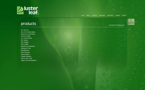 Screenshot of Products Page lusterleaf.com - Luster Leaf Gardening Products - Products - captured June 30, 2018