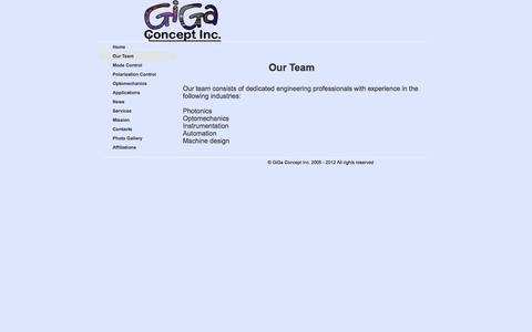 Screenshot of Team Page gigaconcept.com - gigaconcept.com - Our Team - captured Nov. 6, 2016