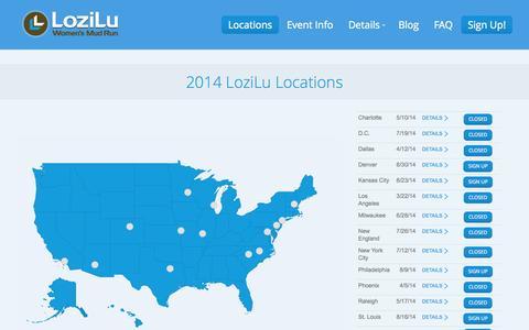 Screenshot of Signup Page Locations Page lozilu.com - LoziLu |   Locations - captured Oct. 23, 2014