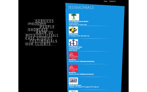 Screenshot of Testimonials Page showcraftproductions.com - Event Management : UK Event Management, Events Management Services UK - captured Feb. 16, 2016
