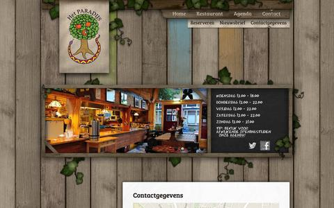 Screenshot of Contact Page hetparadijs.com - Contactgegevens | Het Paradijs - captured Sept. 30, 2014