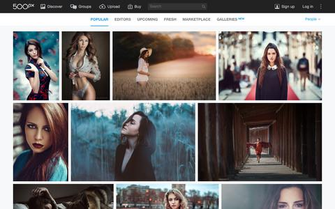 Screenshot of Team Page 500px.com - Most Popular People Photos on 500px Right Now - captured Jan. 4, 2016