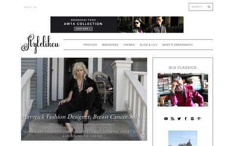 Screenshot of Home Page stylelikeu.com - StyleLikeU - captured Sept. 24, 2014