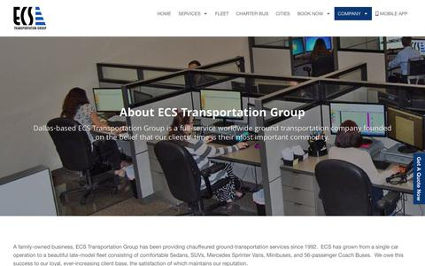 Screenshot of About Page ecsnationwide.com - ECS Transportation Group | Meet Our Team | Company History - captured Sept. 25, 2018