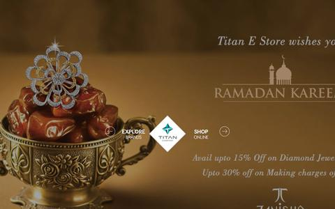 Screenshot of Home Page titan.co.in - Titan Company Online Shopping : Shop for Jewellery, Watches, Sunglasses, Perfumes, Accessories from Our Official Online Store @ Titan.co.in - captured June 21, 2017